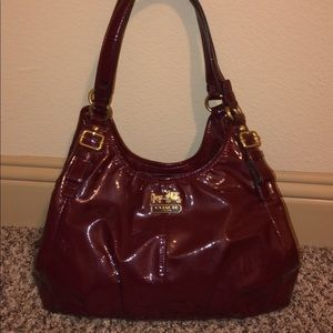 Beautiful Maroon Coach Purse